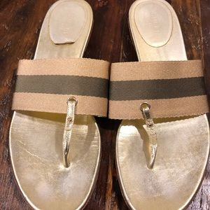Gucci Metallic Sandals Size 10 Gold